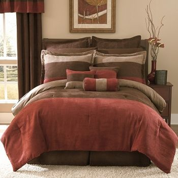 china microsuede comforter set rust