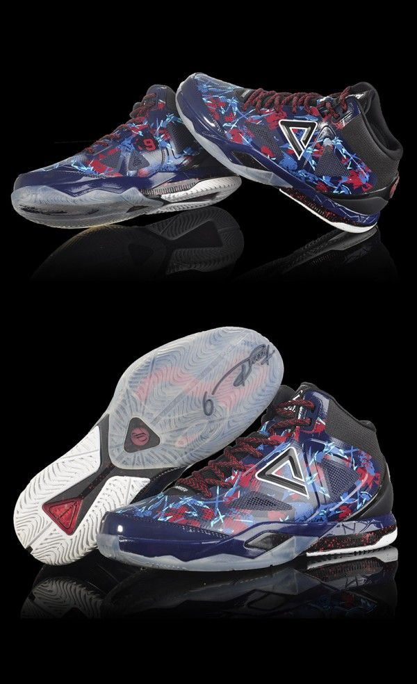 69819de8bea66 PEAK TP9 Tony Parker 3 III Professional Basketball Shoes - Navy ...