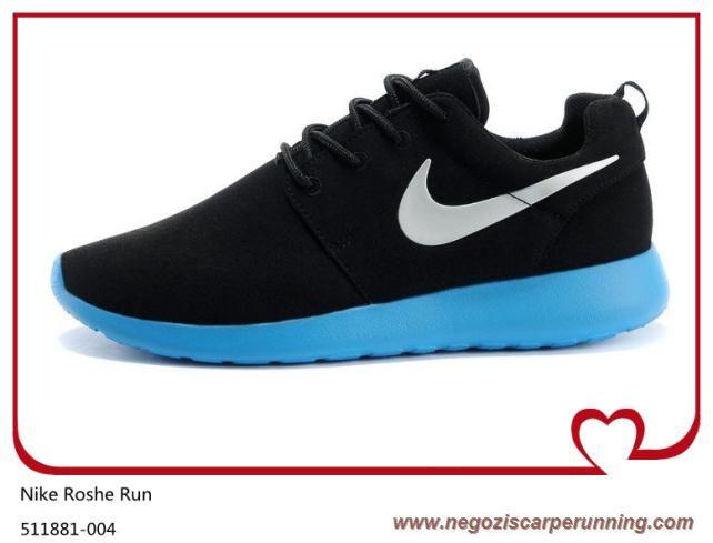 info for bc624 9c56f scarpe da calcio Nero Wolf Gray Bright Blu 511881-004 Nike Roshe Run Uomo
