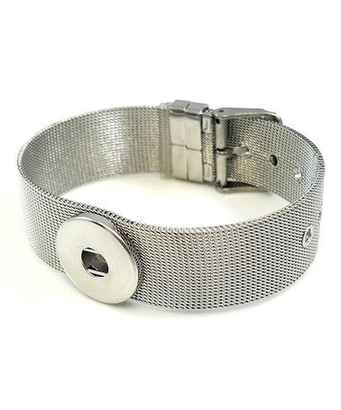 Another great find on #zulily! Silvertone Large Interchangeable Snap Charm Buckle Bracelet #zulilyfinds