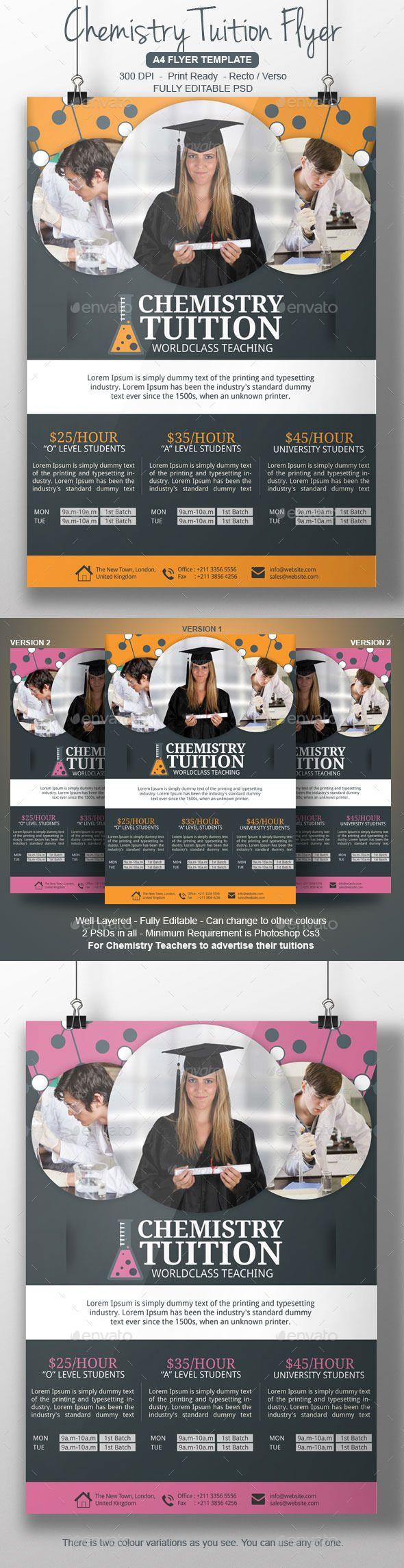 chemistry tutor flyer template marketing flyers pinterest