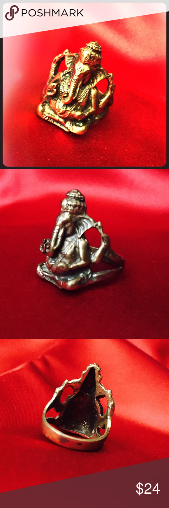 Lord Ganesh Ring Festival Meditation Ganesha Groovy Lord Ganesh Copper Ring Hindu Ring for Festival and Meditation Ganesha Ring Elephant Ring / ring for men / plus size ring- spiritual vibe and boho hippie chic Jewelry Rings