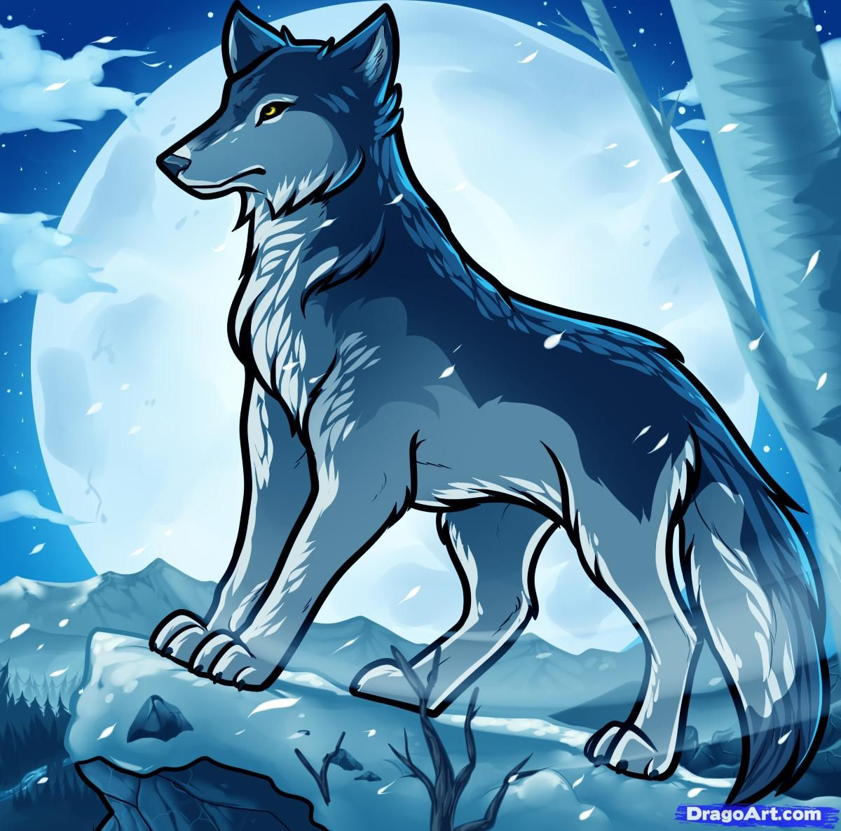 Drawings Of Anime People How To Draw Anime Wolves Anime Wolves Anime Wolf Cartoon Wolf Drawing Anime Drawings