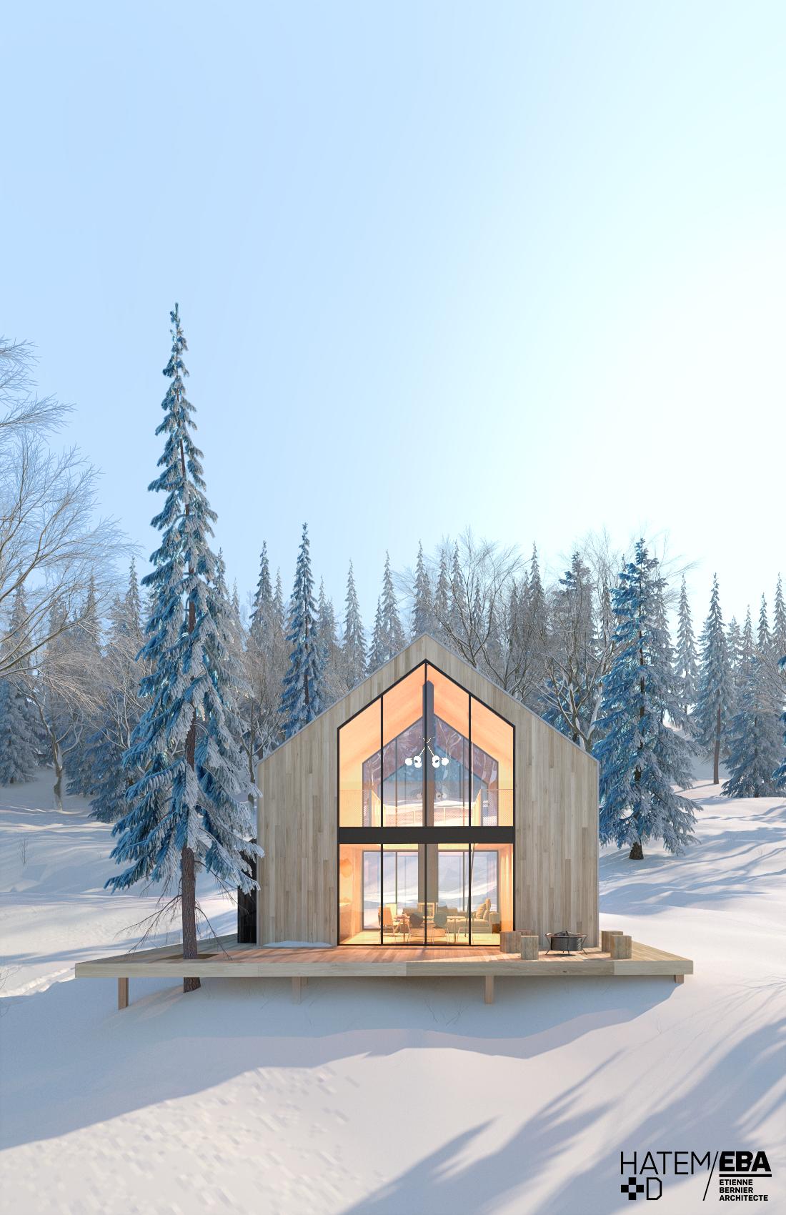 De nouveaux chalets aux inspirations scandinaves en banlieue de Québec #dreamhouses
