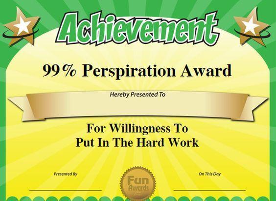 employee certificates of appreciation