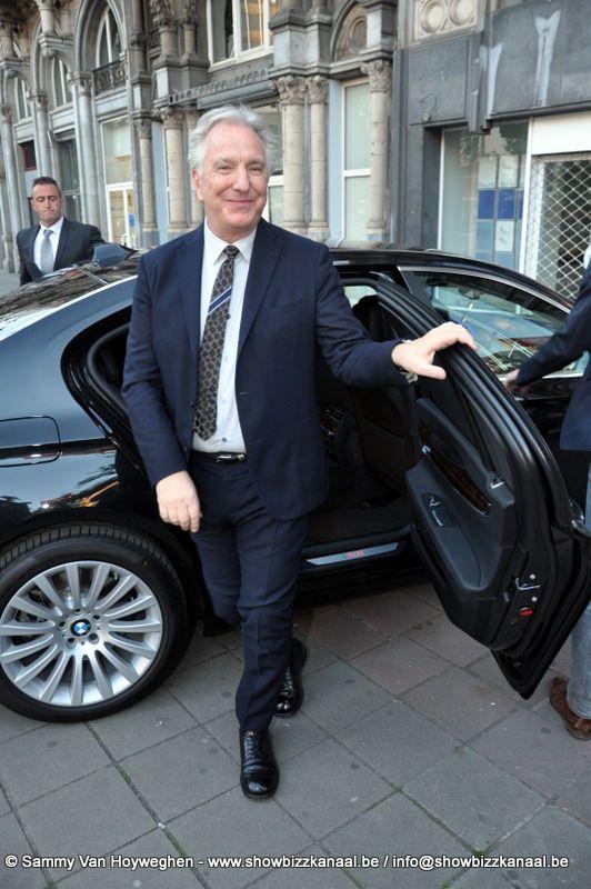 Photo of Alan Rickman  - car