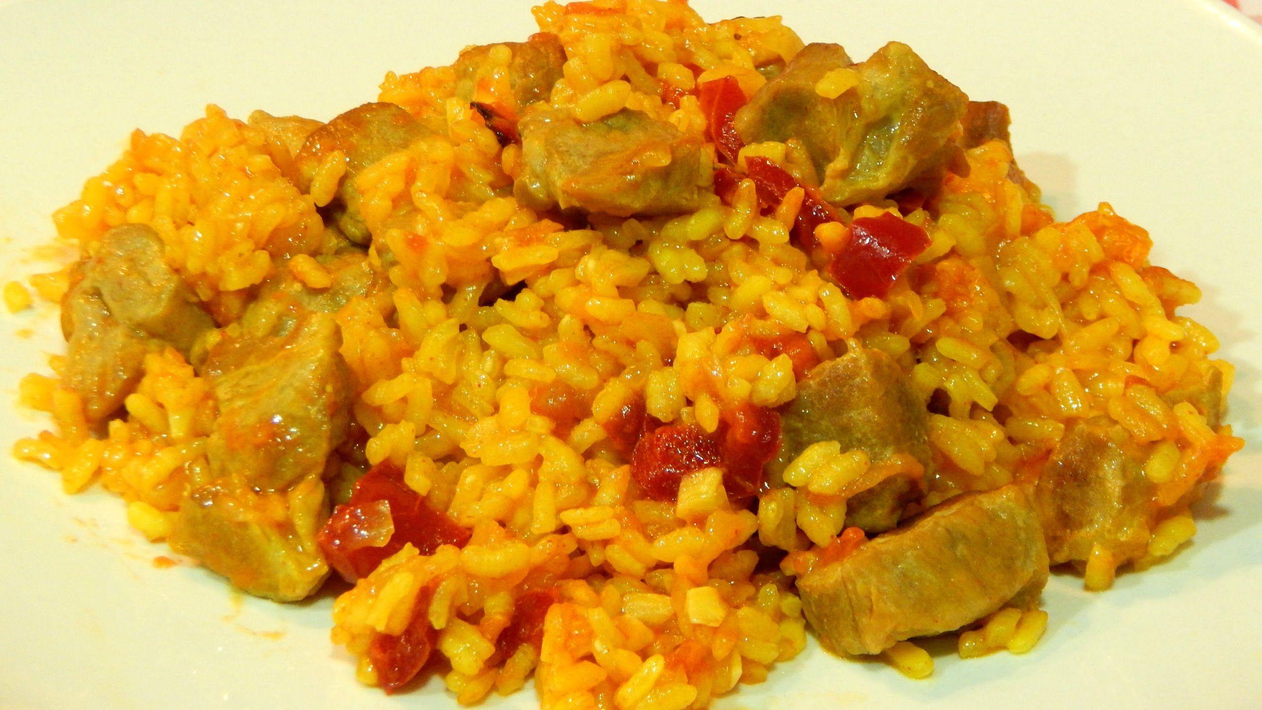 Receta fácil de arroz con magro de cerdo