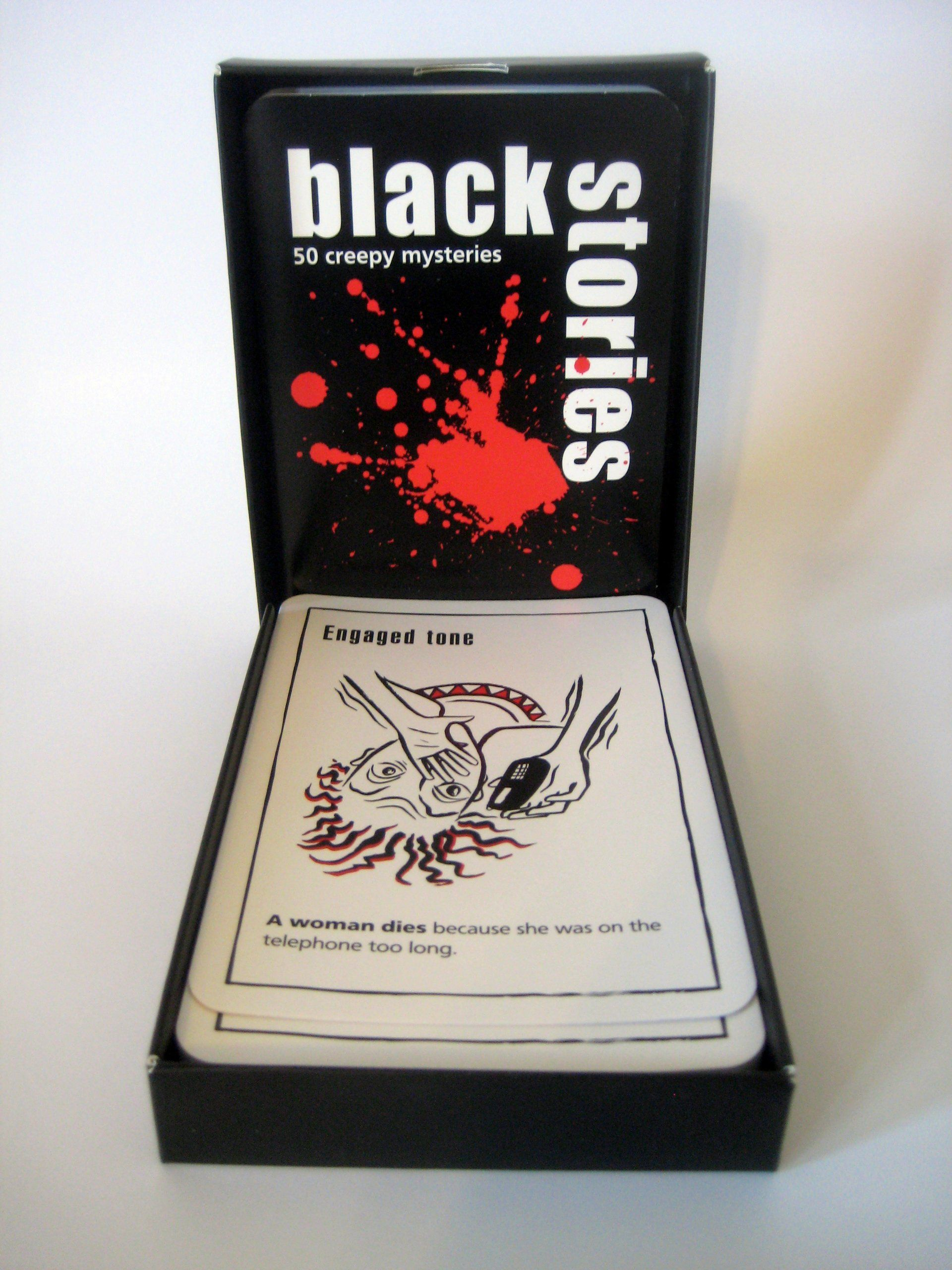 Black Stories Mysteries Game U.S. Edition