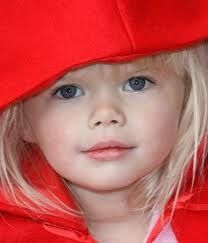 lovely little lady in red