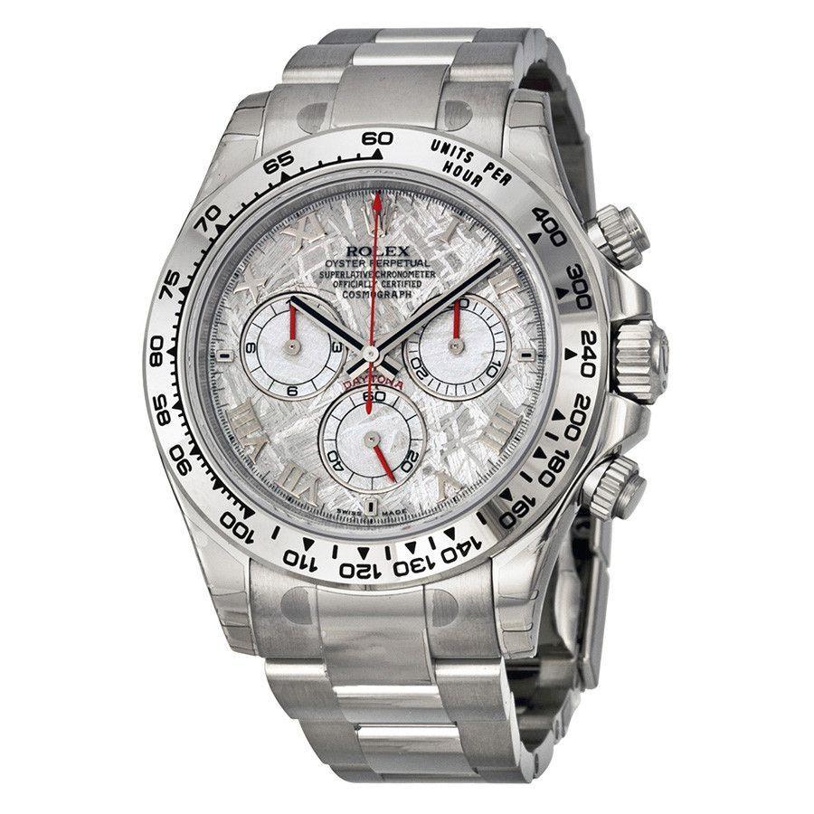 Rolex Daytona Cosmograph White Gold Meteorite Dial Watch