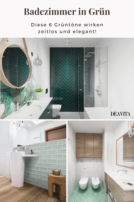 Badezimmer in Grün: 12 moderne Grüntöne und viele Gestaltungsideen