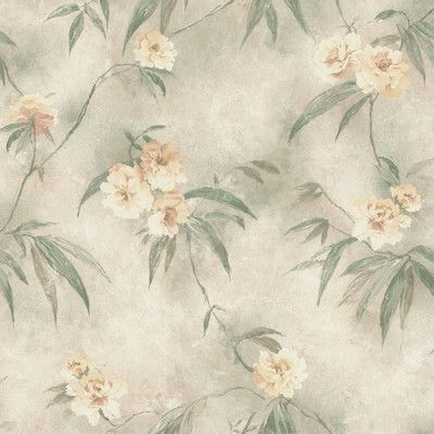 "Brewster Home Fashions Kitchen & Bath Resource III Segal 33' x 20.5"" Floral 3D Embossed Wallpaper Color:"