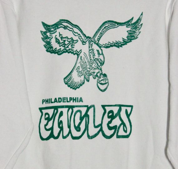 Vintage 90s Philadelphia Eagles White Sweatshirt Crewneck Adult Size Large  Please message me with any questions!  ---------------------------------------------------------------------------------------------  For more sweatshirts & vintage apparel, click HERE: https://www.etsy.com/shop/RawDesignCo?ref=l2-shop-header-avatar%C2%A7ion_id§ion_id=19142144