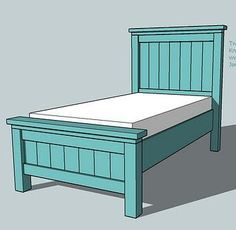 Best Farmhouse Bed Twin Size Diy Bed Frame Furniture Plans Diy Bed 400 x 300