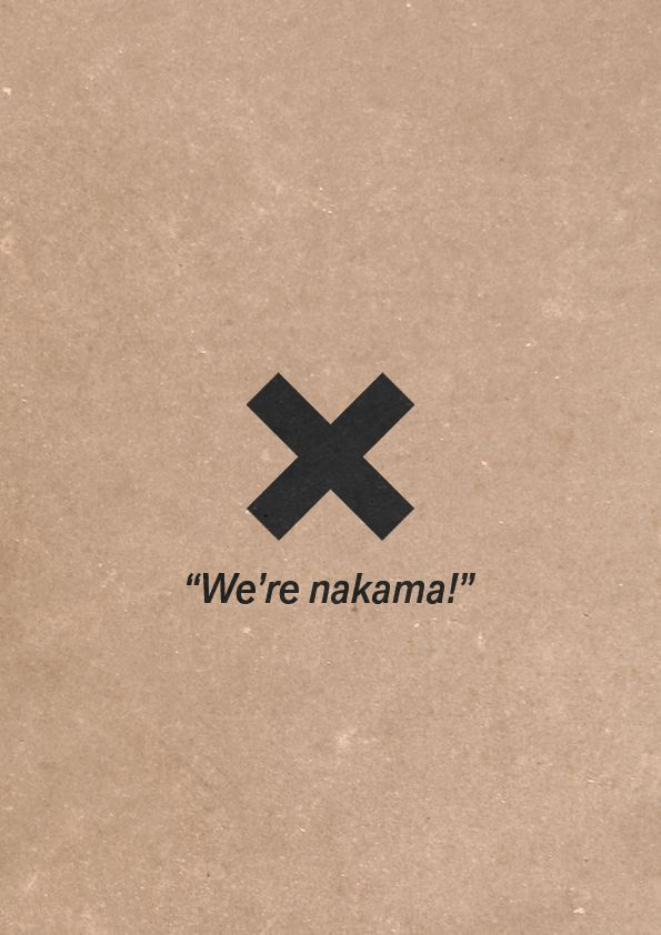 Minimalist Poster: Nakama by JustTomTom on DeviantArt