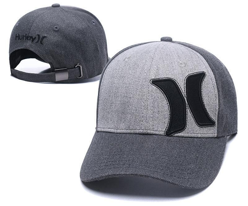 Men's / Women's Hurley Hermosa 2.0 Curved Dad Hat - Charcoal / Heather Grey