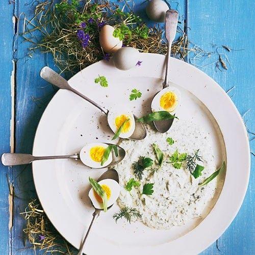 Eier in grüner Soße - BRIGITTE