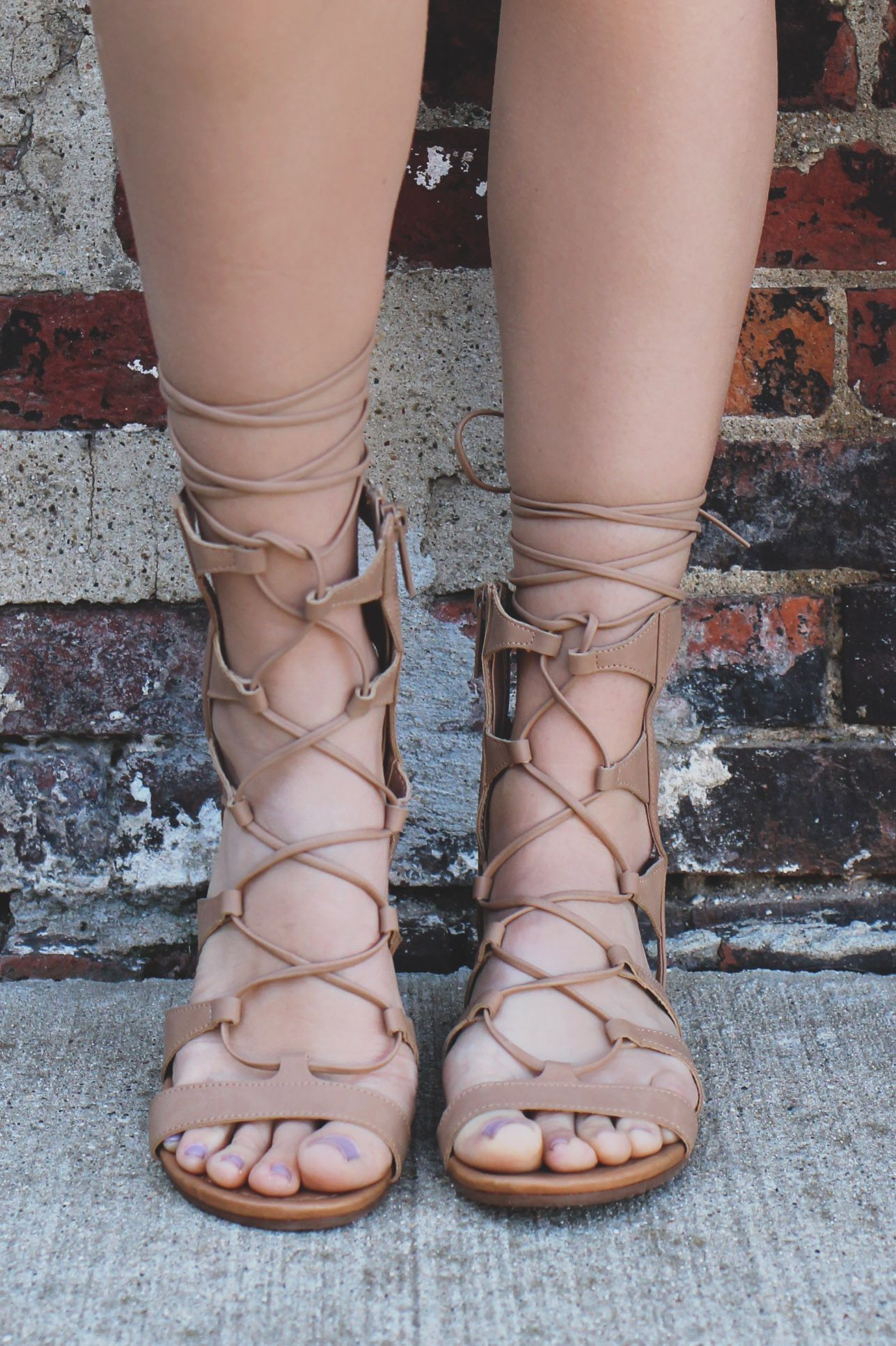 Get Festival Ready With Our Lace Up Goddess Sandals This