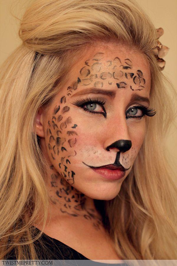 Kitty Cat Makeup Tutorial Costumes Pinterest Kitty cat makeup - cat halloween makeup ideas