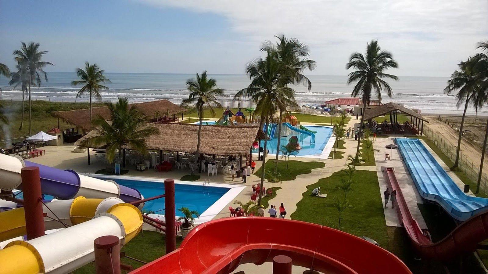 Parque acuático en tuxpan playa paraíso