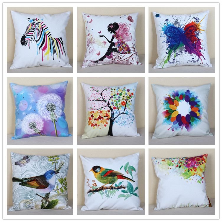 Find More Information about Cushion Cover Pillow Case with Animal Flower Artwork,High Quality pillow cover sewing pattern,China case economics Suppliers, Cheap pillow store from Home Design Department Store on Aliexpress.com