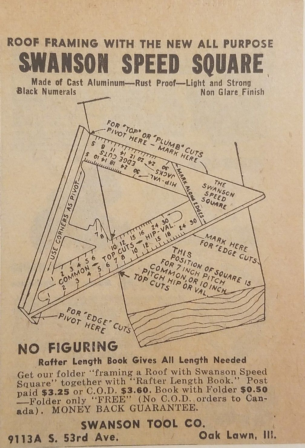 Early 1950 S Swanson Speed Square Advertisement Swanson Speed Square Speed Square Wooden Projects