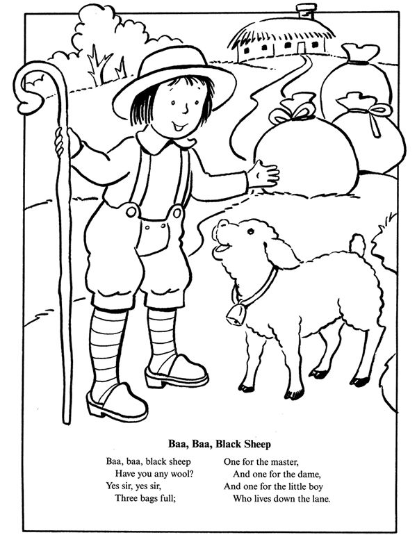 Baa Baa Black Sheep Coloriage