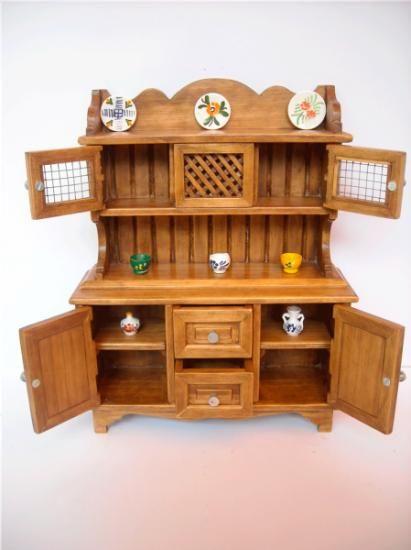 mueble en miniatura hecho mano madera de pino carpintería ...