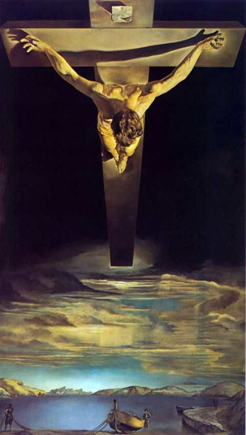 Salvador Dali - Christ of St John of the Cross  Saw the original at the National Gallery in Washington DC