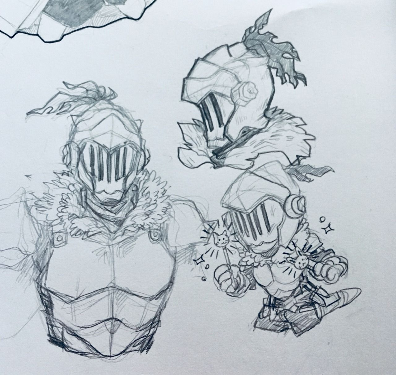I Need To Get Better At Drawing Armor So I Can Draw Husband Goblin Slayer By Inspector Doodles Tumblr Armor Drawing Armor Drawings Drawings