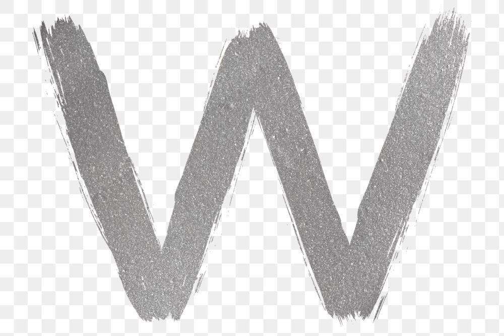 Transparent Letter W Silver Brush Stroke Font Free Image By Rawpixel Com Hein Brush Stroke Font Free Illustrations Brush Strokes