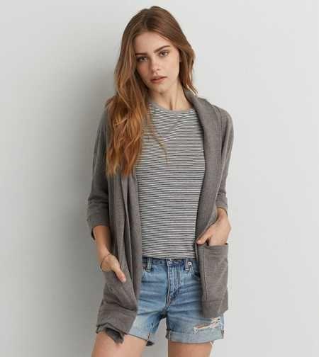 AEO Pocket Fleece Cardigan | back to school clothes | Pinterest ...