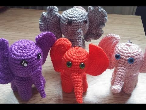 Amigurumi Adam Anahtarlik Fil Yapimi Make Elephant Keychain