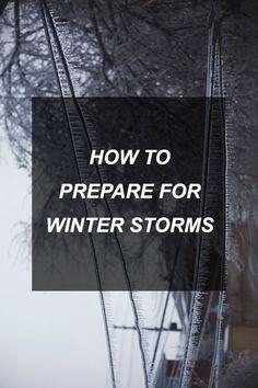 How to Prepare for Winter Storms | Survival Shelf | Survivalist & Prepper Links