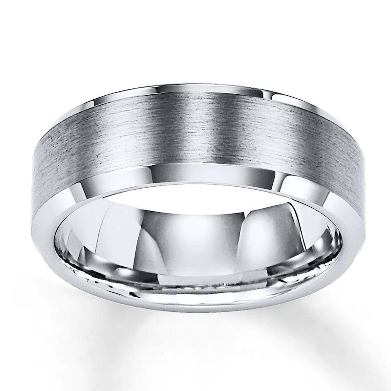 8mm Wedding Band White Tungsten Carbide Kay In 2020 Tungsten Wedding Bands Mens Wedding Bands Tungsten 8mm Wedding Band