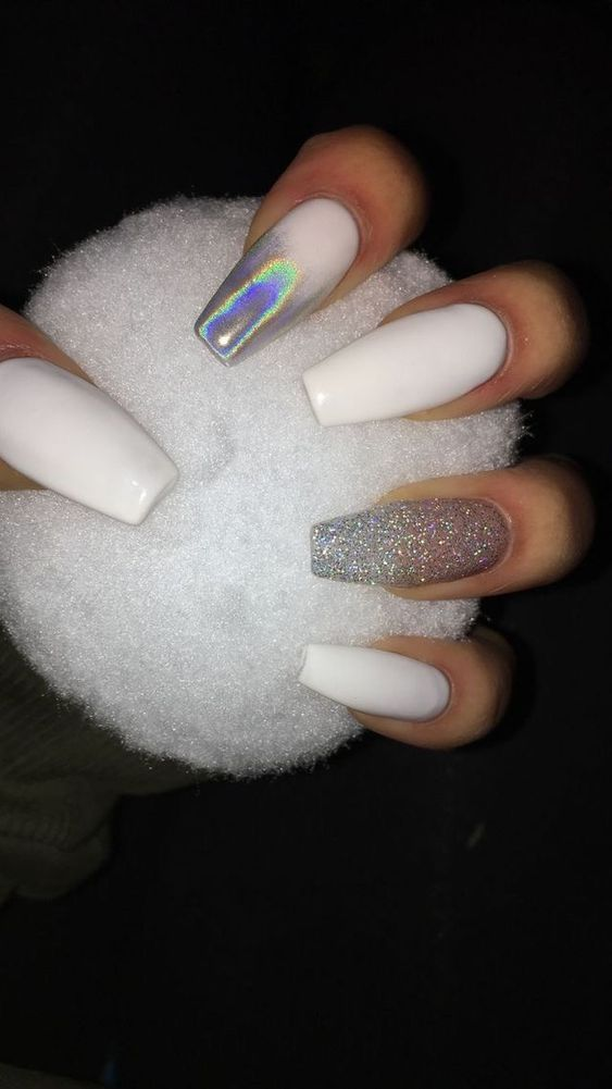 5 Delicate Coffin Nail Design For You Take A Look With Images Coffin Nails Designs Fake Nails Gorgeous Nails