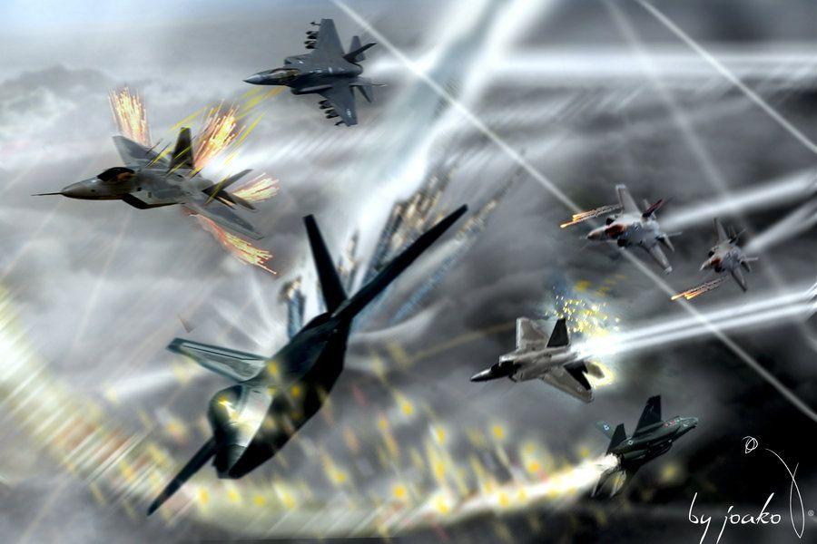 Air Combat F22 Vs F35 by elJoako007