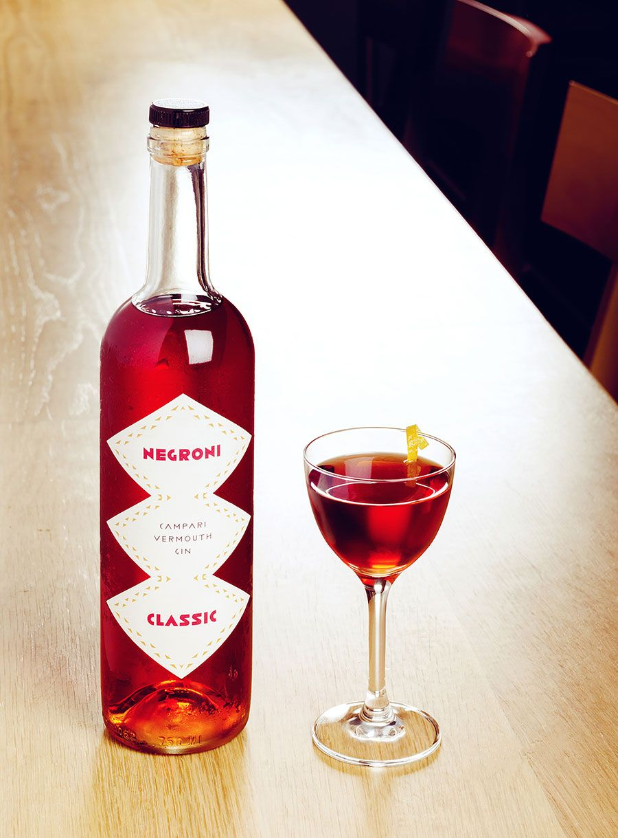 Savio Volpe The Wise Fox S Osteria In Vancouver By Studio Ste Marie Yatzer Negroni Wine Bottle Campari