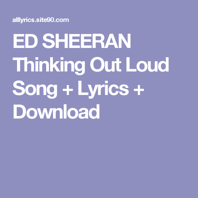 MP3LIO SHEERAN LOUD TÉLÉCHARGER THINKING OUT ED