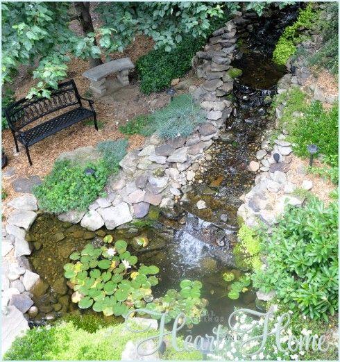 DIY Backyard Waterfall & Pond | Ponds backyard, Water ...
