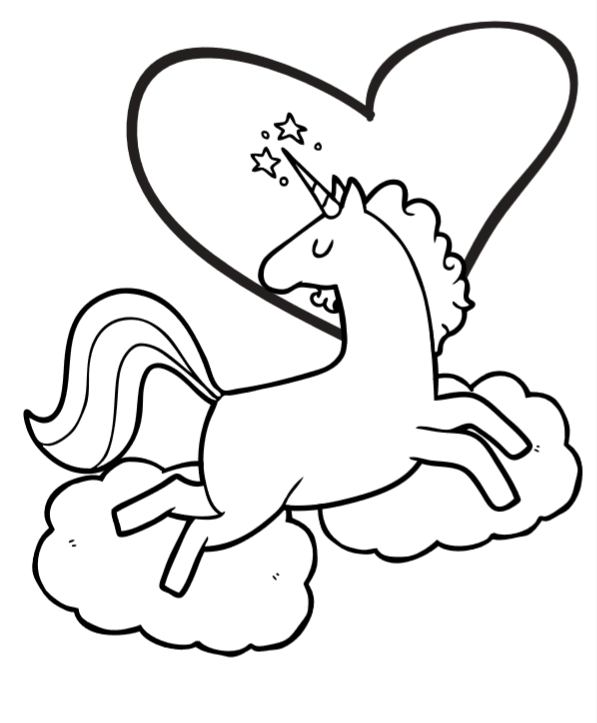 Free Unicorn Coloring Book Pages So Cute Unicorn Coloring