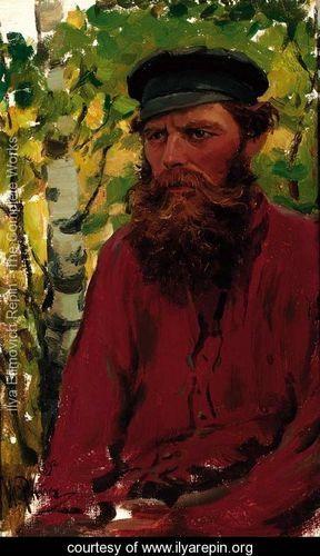 """""""Portrait of a Russian Peasant"""" by Ilya Efimovich Efimovich Repin"""