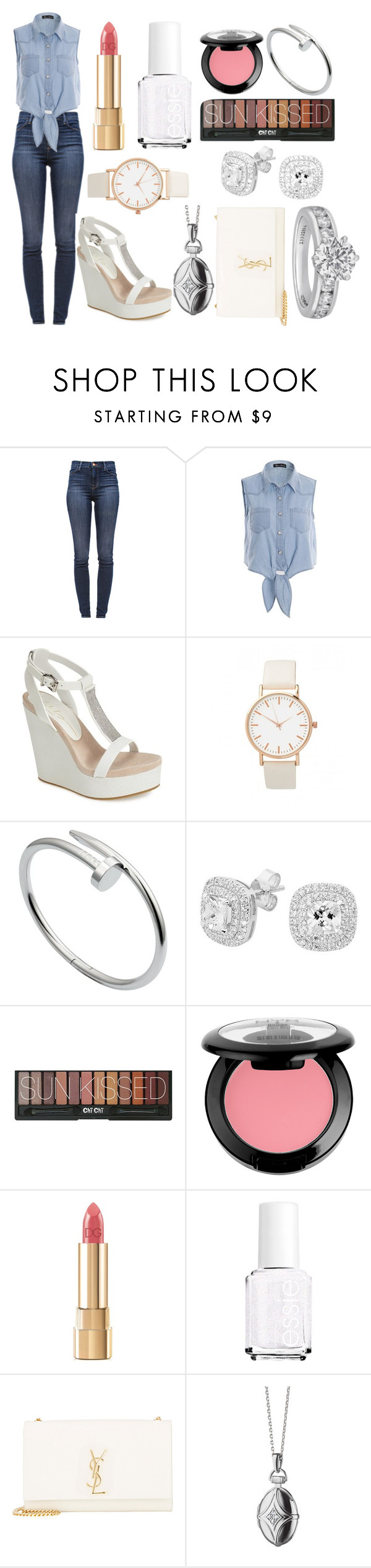 """^~^"" by blincoln ❤ liked on Polyvore featuring J Brand, Lola Cruz, Cartier, Georgini, NYX, Dolce&Gabbana, Essie, Yves Saint Laurent, Monica Rich Kosann and Tiffany & Co."