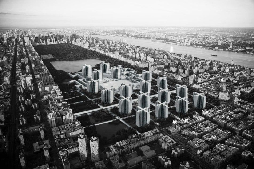 Oh The Urbanity New York To Build Le Corbusier S Plan Voisin In Central Park Architizer Le Corbusier How To Plan Building