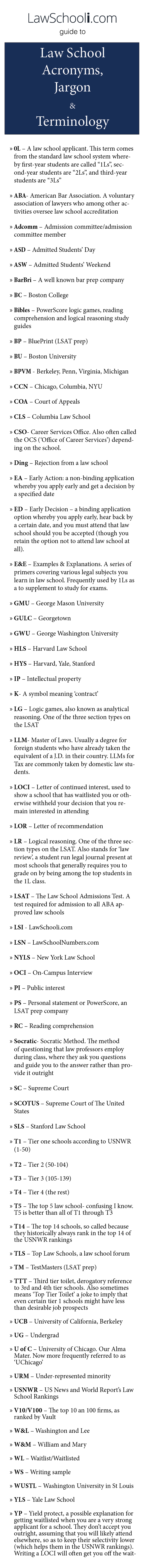 law school acronyms jargon and terminology study guides study lawschooli com guide to law school acronyms jargon terminology