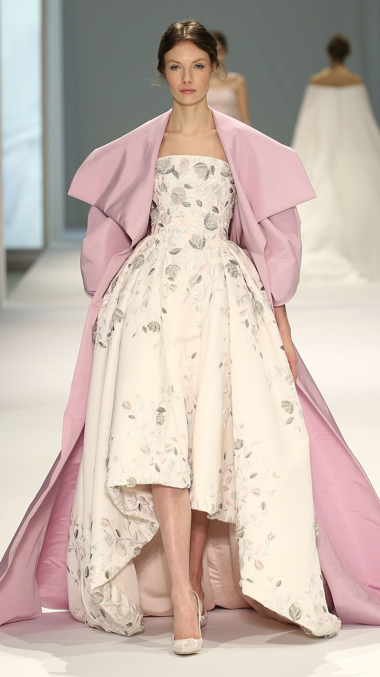 8658abecf252 A model walks the runway during the Ralph   Russo show as part of Paris  Fashion Week Haute Couture Spring Summer 2015 on January 2015 in Paris