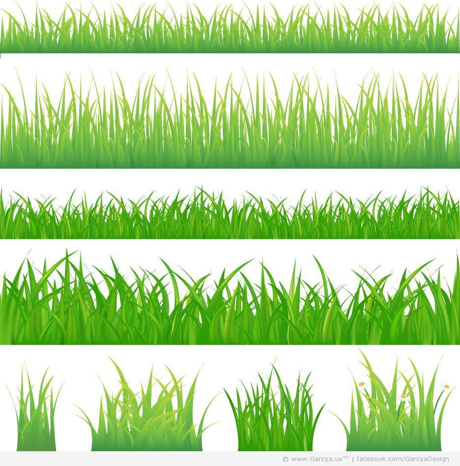 Spring Grass Vector Pack Web Design Blog Web Design Blog | Надо ...