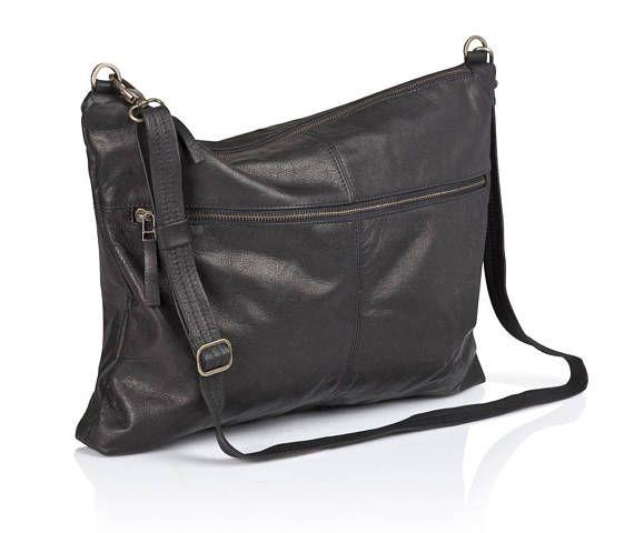 3de3603ae123 Black leather messenger bag - men leather bag SALE - men s leather purse - shoulder  bag - crossbody