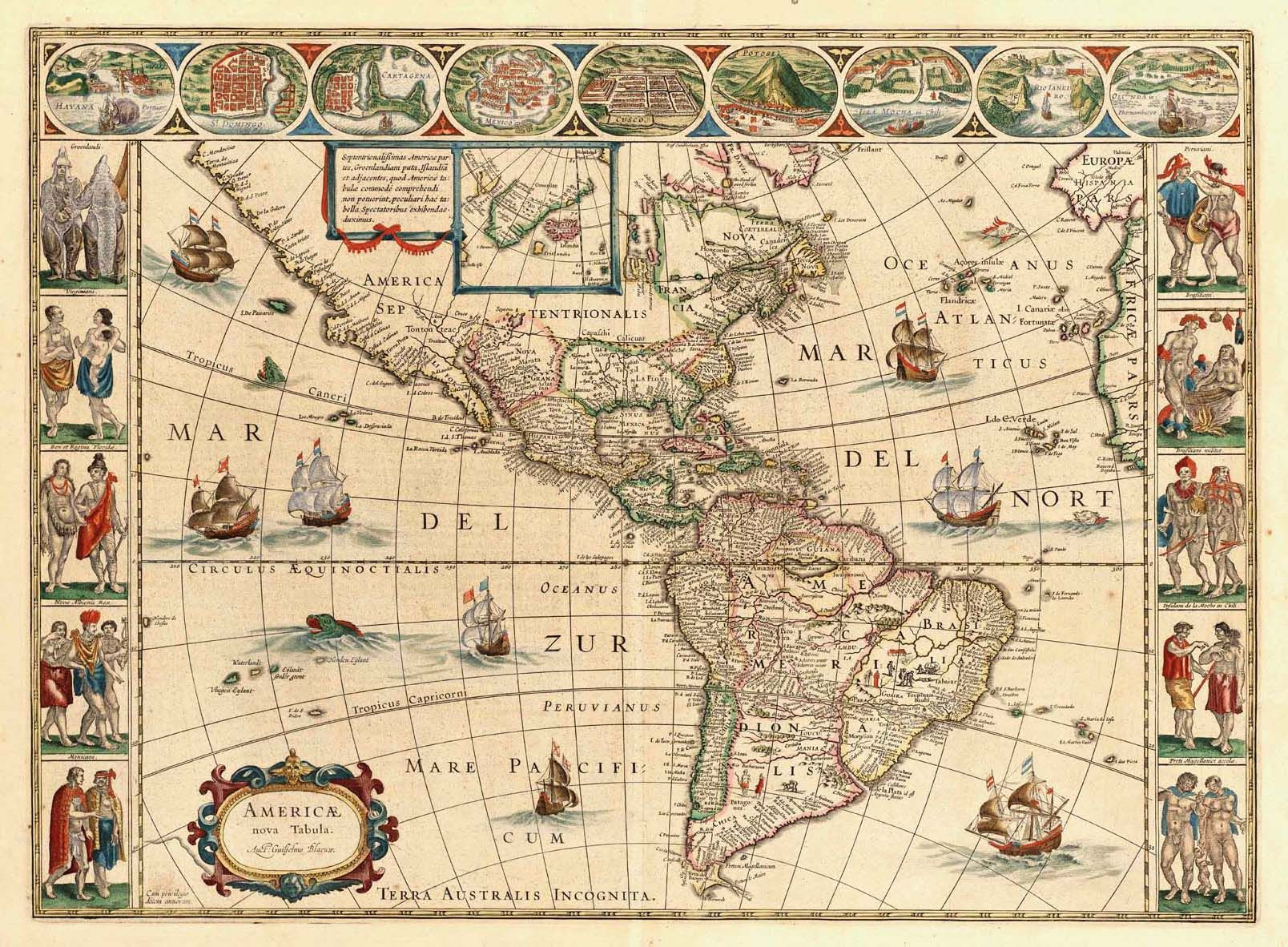 Bmc 18 p45g 16081182 writing ideas pinterest writing ideas americae nova tabula map of north and south america poster x print title americae nova tabula map of north and south america gumiabroncs Images