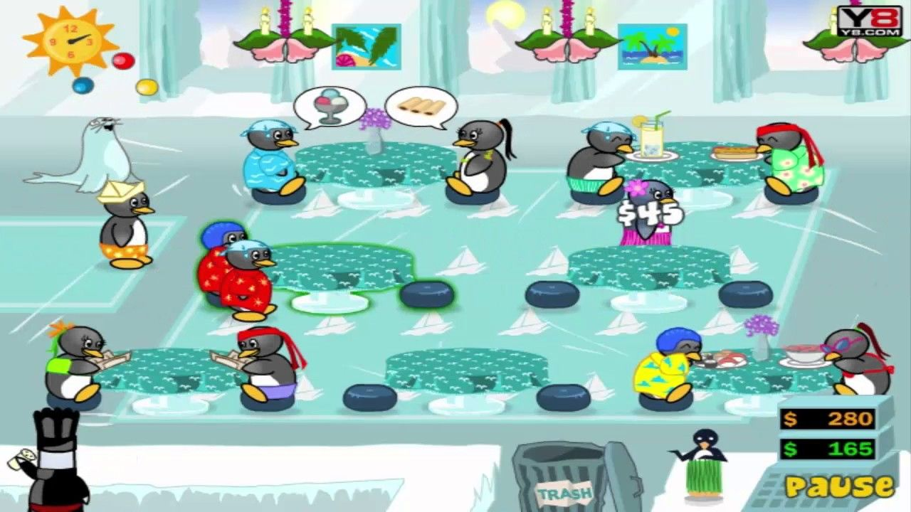 Funny Game Videos Relaxing Games Penguin Diner 2 4